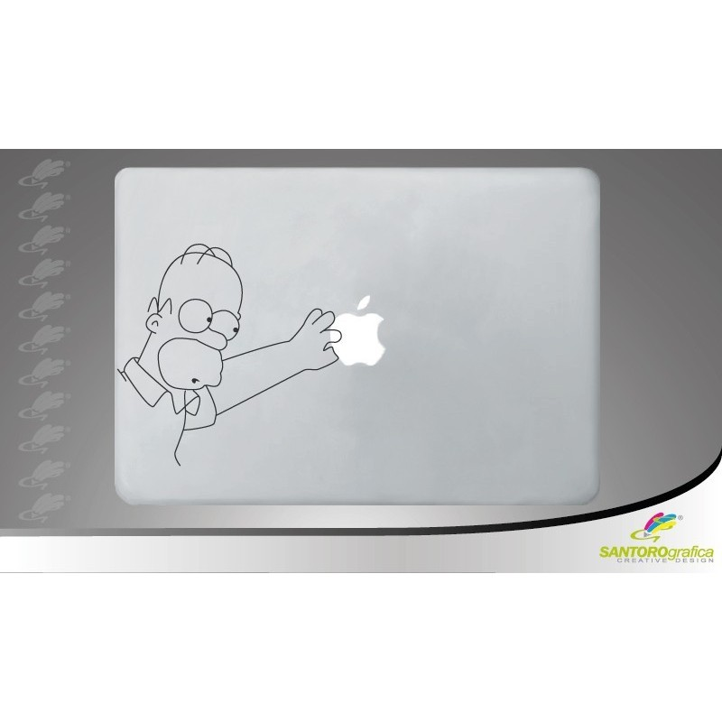 simpson apple touch - adesivo per macbook