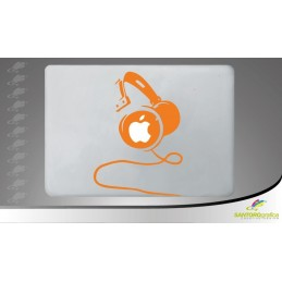 Headphone Lateral View - adesivo per macbook