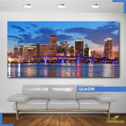 Quadro - Skyline di Miami City