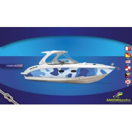 Camouflage Blu - Pellicola per boat wrapping