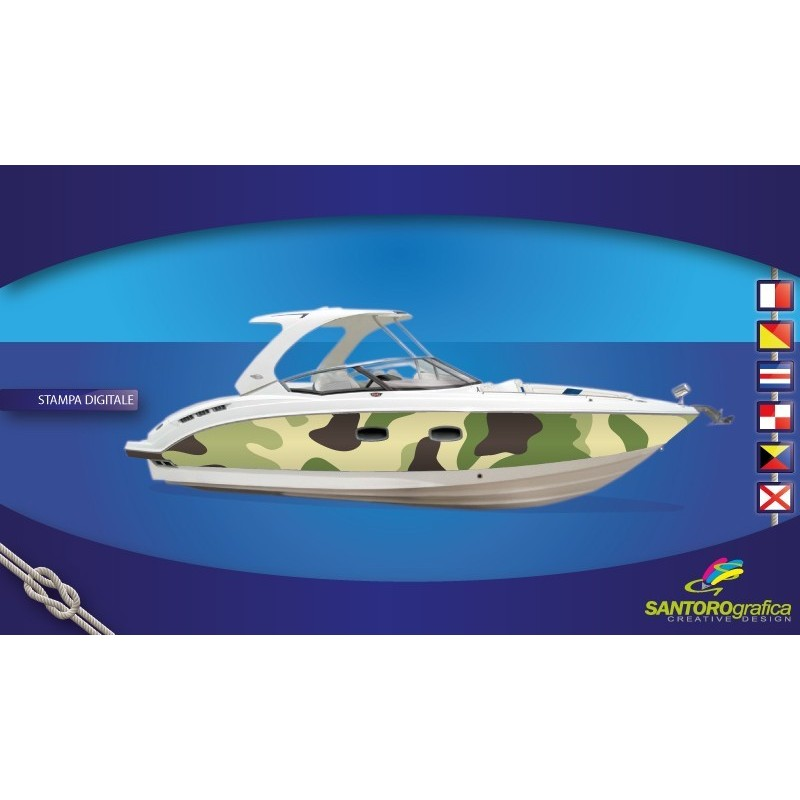 Camouflage Verde - Pellicola per boat wrapping