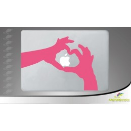 love circle - adesivo per macbook