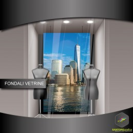 fondale vetrine - downtown di manhattan