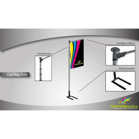 Car Flag Pole - Espositore...