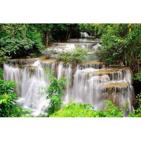 cascate foresta tropicale -...
