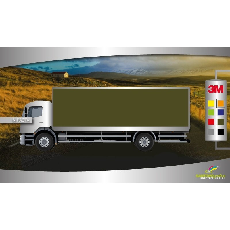 Matte Military Green - pellicola per wrapping camion