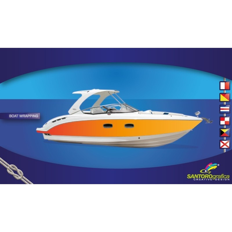 Gloss Bright Orange - Pellicola per Boat wrapping
