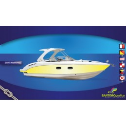 Gloss Bright Yellow - Pellicole per boat wrapping.
