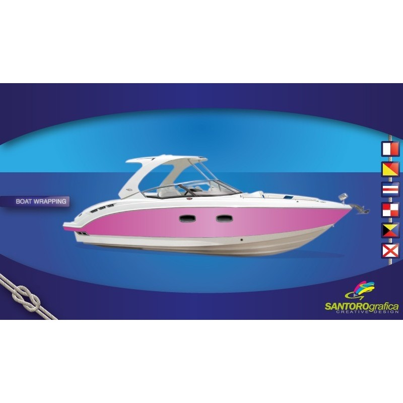 Gloss Hot Pink - Pellicola per boat wrapping
