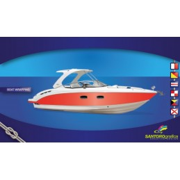 Gloss Hotrod Red - Pellicola per boat wrapping