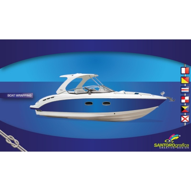 Gloss Intense Blue - Pellicola per boat wrapping